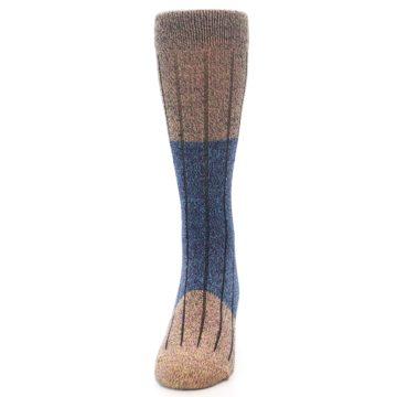 Image of Blue Multi Color Wool Blend Men's Dress Socks (front-05)
