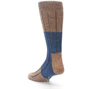 Image of Blue Multi Color Wool Blend Men's Dress Socks (side-2-back-15)