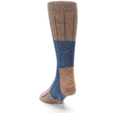 Image of Blue Multi Color Wool Blend Men's Dress Socks (side-2-back-16)