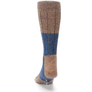 Image of Blue Multi Color Wool Blend Men's Dress Socks (back-17)