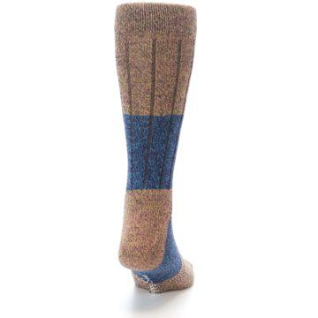 Image of Blue Multi Color Wool Blend Men's Dress Socks (back-19)
