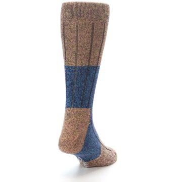 Image of Blue Multi Color Wool Blend Men's Dress Socks (side-1-back-20)