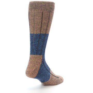 Image of Blue Multi Color Wool Blend Men's Dress Socks (side-1-back-21)