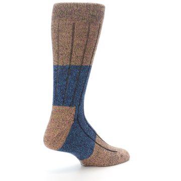 Image of Blue Multi Color Wool Blend Men's Dress Socks (side-1-back-22)
