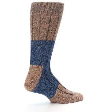 Image of Blue Multi Color Wool Blend Men's Dress Socks (side-1-23)