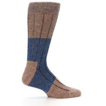 Image of Blue Multi Color Wool Blend Men's Dress Socks (side-1-24)