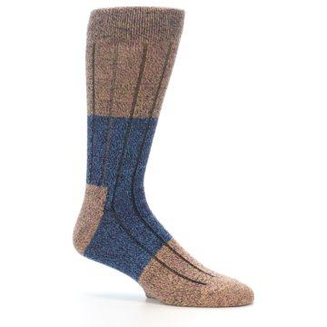 Image of Blue Multi Color Wool Blend Men's Dress Socks (side-1-25)