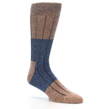 Image of Blue Multi Color Wool Blend Men's Dress Socks (side-1-26)