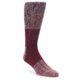 Image of Red Wool Blend Men's Dress Socks (side-1-front-01)