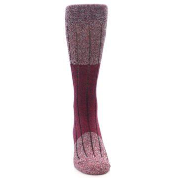 Image of Red Wool Blend Men's Dress Socks (front-04)