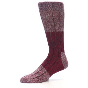 Image of Red Wool Blend Men's Dress Socks (side-2-10)