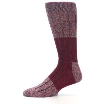 Image of Red Wool Blend Men's Dress Socks (side-2-11)