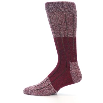 Image of Red Wool Blend Men's Dress Socks (side-2-12)
