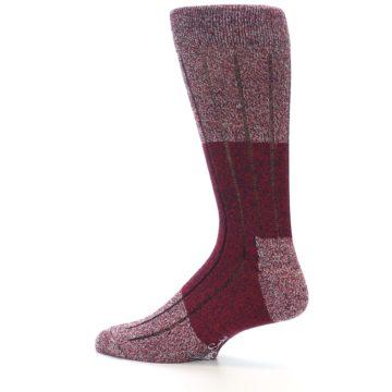 Image of Red Wool Blend Men's Dress Socks (side-2-13)