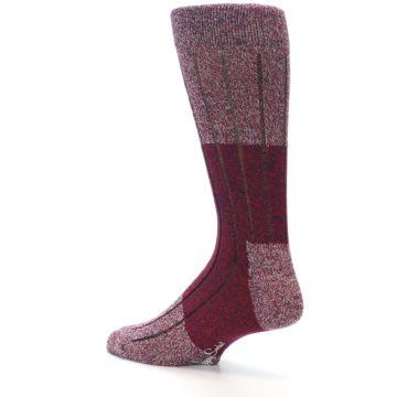 Image of Red Wool Blend Men's Dress Socks (side-2-back-14)