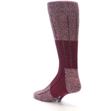 Image of Red Wool Blend Men's Dress Socks (side-2-back-15)