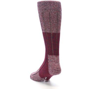 Image of Red Wool Blend Men's Dress Socks (side-2-back-16)