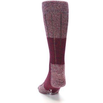 Image of Red Wool Blend Men's Dress Socks (back-17)