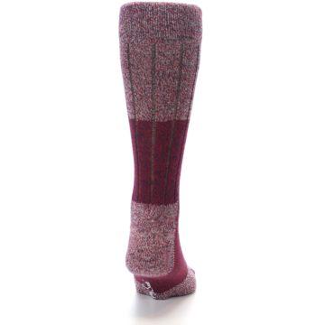 Image of Red Wool Blend Men's Dress Socks (back-19)