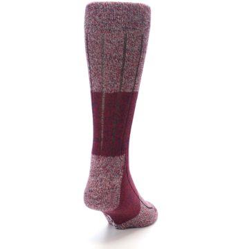Image of Red Wool Blend Men's Dress Socks (side-1-back-20)