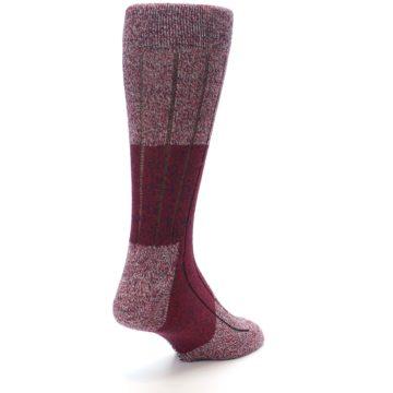 Image of Red Wool Blend Men's Dress Socks (side-1-back-21)