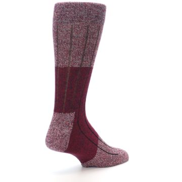 Image of Red Wool Blend Men's Dress Socks (side-1-back-22)
