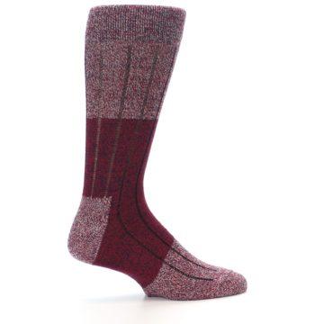 Image of Red Wool Blend Men's Dress Socks (side-1-24)