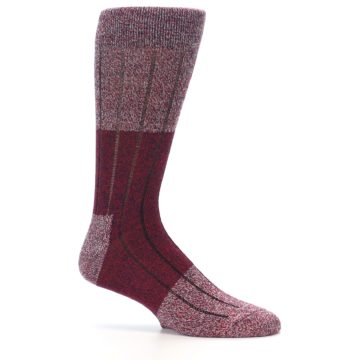 Image of Red Wool Blend Men's Dress Socks (side-1-25)