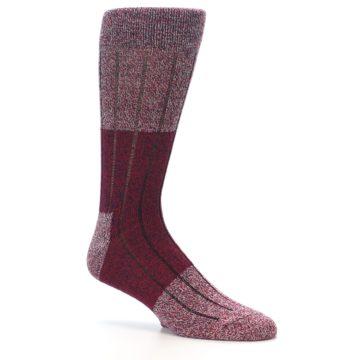 Image of Red Wool Blend Men's Dress Socks (side-1-26)