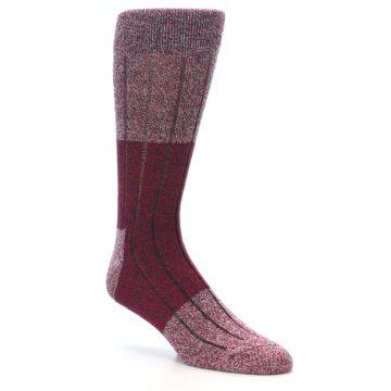 Image of Red Wool Blend Men's Dress Socks (side-1-27)