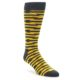 Image of Charcoal Yellow Barbwire Stripe Men's Dress Socks (side-1-front-01)