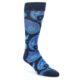 Image of Navy Aqua Paisley Men's Dress Socks (side-1-front-01)