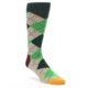 Image of Greens Tan Argyle Men's Dress Socks (side-1-front-01)