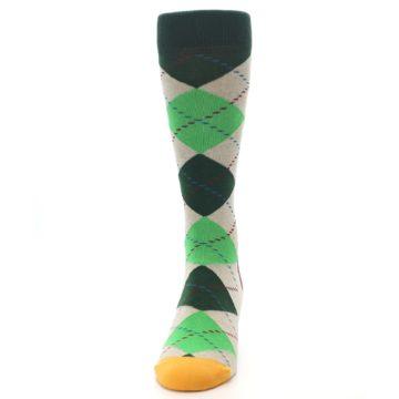 Image of Greens Tan Argyle Men's Dress Socks (front-05)