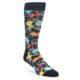 Image of Black Bright Multi Color Paisley Men's Dress Socks (side-1-front-01)