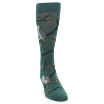 Image of Green Owls Men's Dress Socks (side-1-front-03)