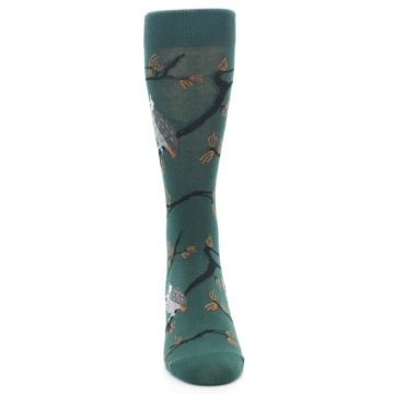 Image of Green Owls Men's Dress Socks (front-04)