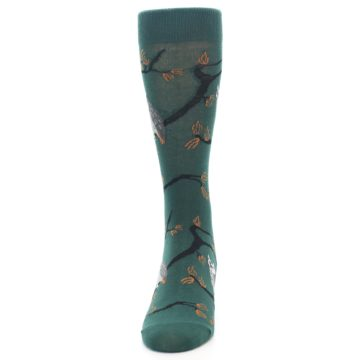 Image of Green Owls Men's Dress Socks (front-05)