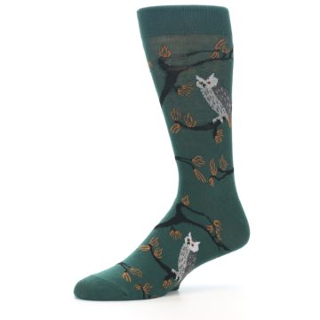Image of Green Owls Men's Dress Socks (side-2-10)