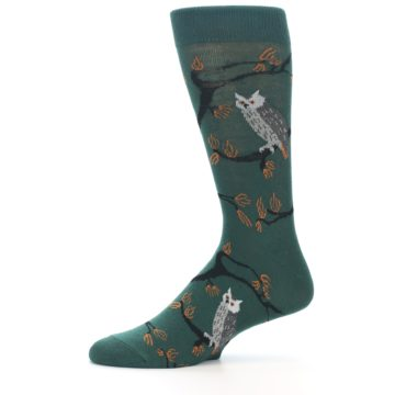 Image of Green Owls Men's Dress Socks (side-2-11)