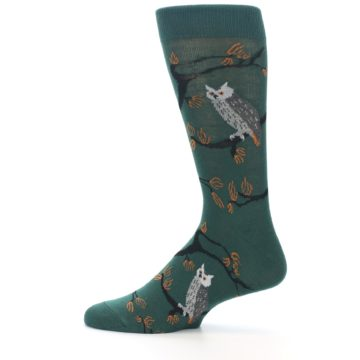 Image of Green Owls Men's Dress Socks (side-2-12)
