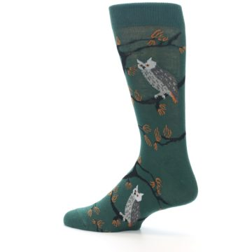 Image of Green Owls Men's Dress Socks (side-2-13)
