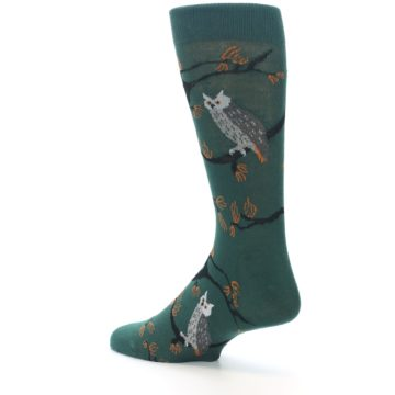 Image of Green Owls Men's Dress Socks (side-2-back-14)