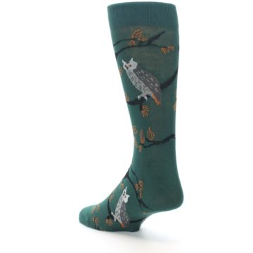 Image of Green Owls Men's Dress Socks (side-2-back-15)