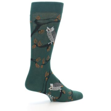 Image of Green Owls Men's Dress Socks (side-1-23)