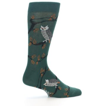 Image of Green Owls Men's Dress Socks (side-1-24)