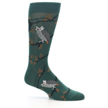 Image of Green Owls Men's Dress Socks (side-1-25)