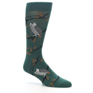 Image of Green Owls Men's Dress Socks (side-1-26)