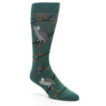 Image of Green Owls Men's Dress Socks (side-1-27)