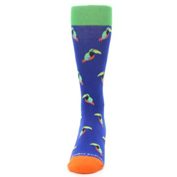Image of Blue Green Toucan Bird Men's Dress Socks (front-05)